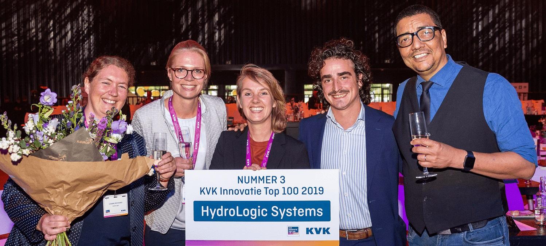 HydroLogic behaalt met HydroNET 3e plaats KVK Innovatie top 100